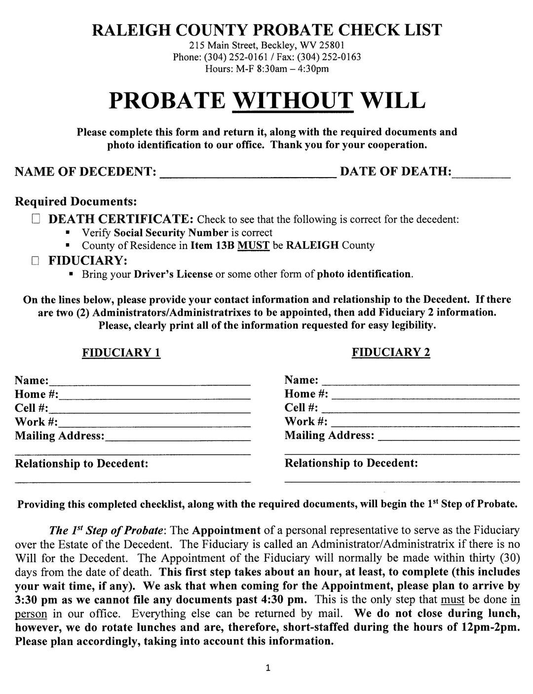 Probate - Raleigh County Clerk